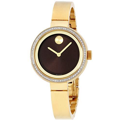 Movado Bold Quartz Movement Brown Dial Ladies Watch 3600282