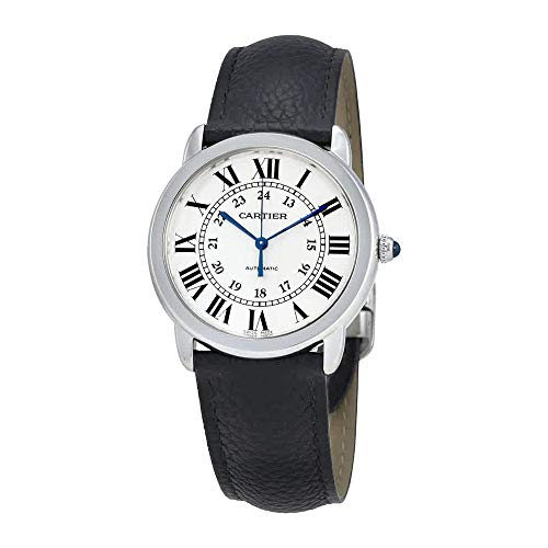 Cartier Ronde Solo Automatic Silver Opaline Dial Ladies Watch