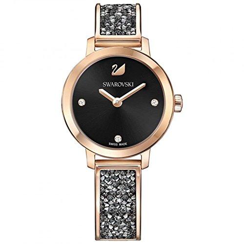 Swarovski Cosmic Rock Watch Black dial Rose Gold Tone
