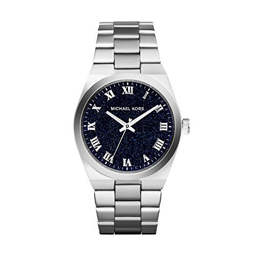 Michael Kors Channing Midnight Blue Shimmer Dial Stainless Steel Ladies Watch