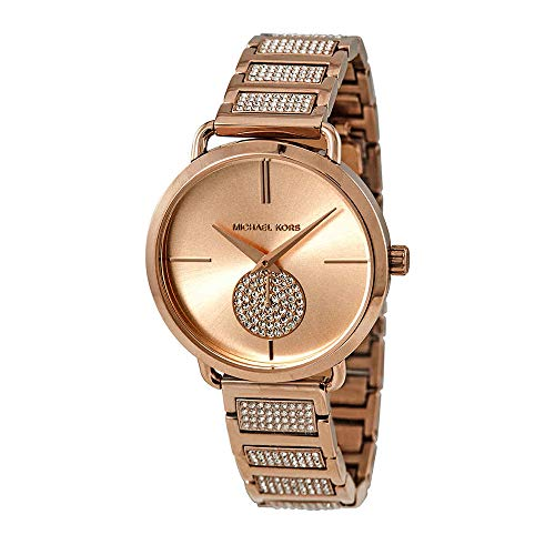 Michael Kors Women's Portia Rose-Gold Stainless-Steel Swiss Parts