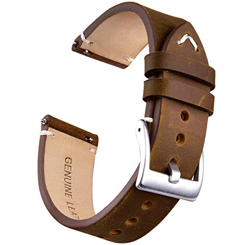 18mm Genuine Leather Watch Bands Quick Release Leather Watch Straps