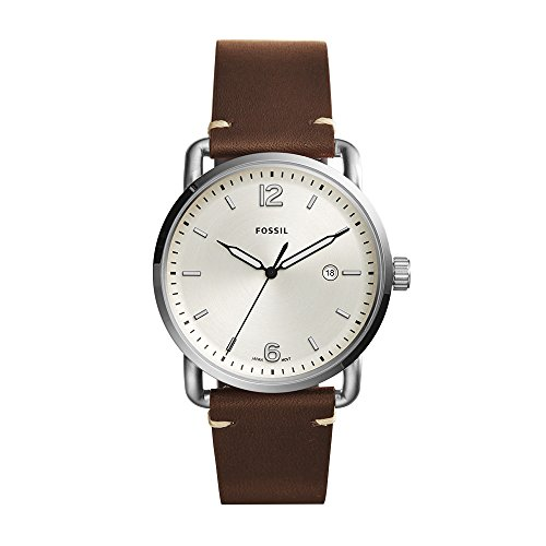 Fossil Men's The Commuter Quartz Stainless Steel and Leather Casual Watch