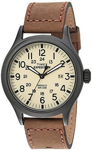 Timex Men's Expedition Scout Brown Leather Strap Watch