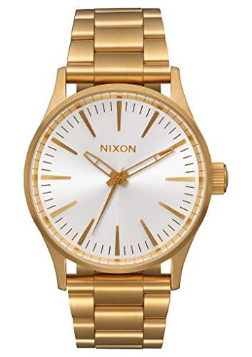 NIXON Men's Quartz Watch with Stainless Steel Strap, White