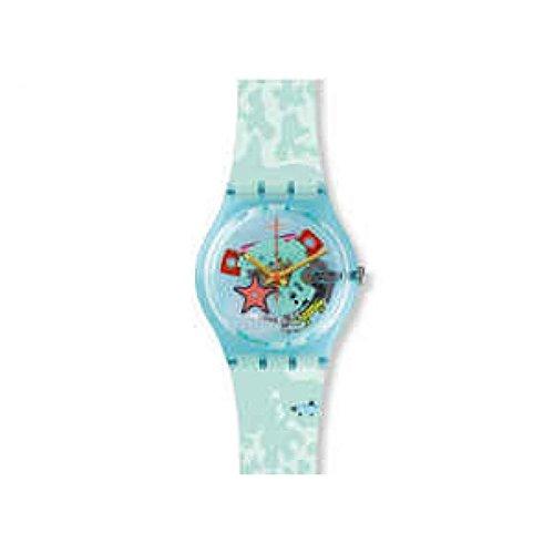 Swatch Originals Piscina Multicolored Dial Silicone Strap Unisex Watch