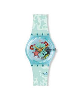 Swatch Originals Piscina Multicolored Dial Silicone Strap Unisex Watch