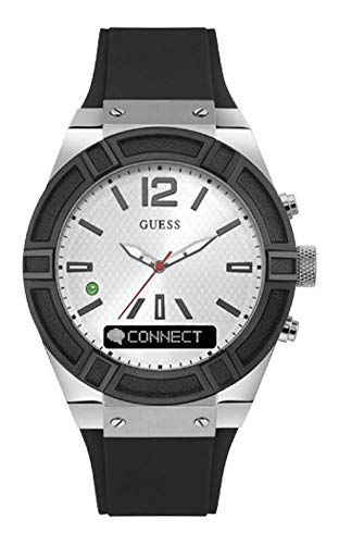 GUESS Women's CONNECT Smartwatch with Amazon Alexa and Silicone Strap
