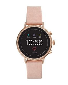Fossil Women's Gen 4 Venture HR Heart Rate Stainless Steel and Leather