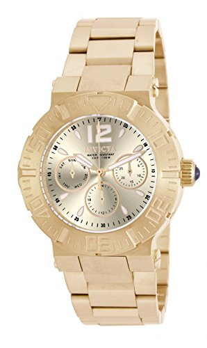 Invicta Angel Multi-Function Champagne Dial Gold-plated Ladies Watch