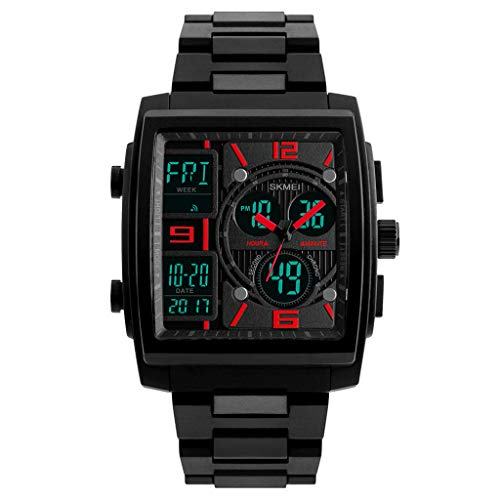 Men's Wrist Watches,Men's Military Rubber Tactical LED Digital Watch Sports