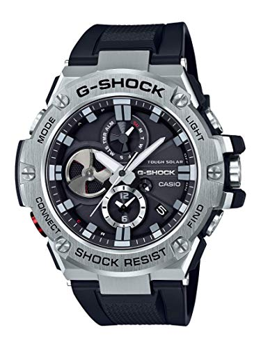 Casio Men's 'G-Steel by G-Shock' Quartz Solar Bluetooth Connected Resin Dress