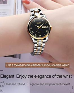 OLEVS Black Fashion Watches for Women Waterproof Inexpensive Analog Quartz