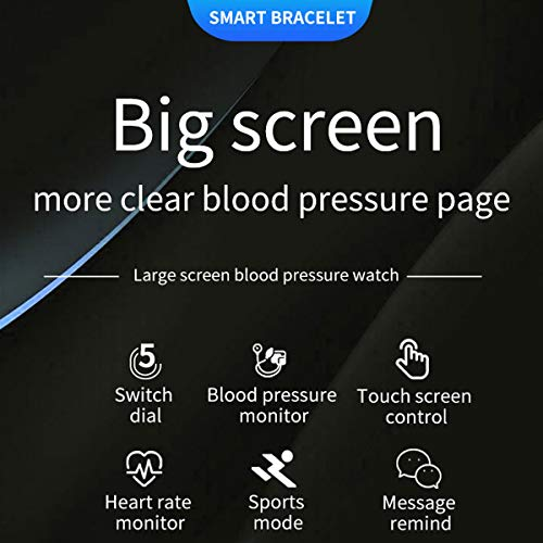 """Smart Watch Heart Rate Blood Pressure Pedometer Step Counter Bluetooth   Care Function:Add friend and relatives as friends in the band APP,and you can check their health data at any time.Can be a great gift for families or friends MULTIFUNCTION:1.Pedometer:Step/Calorie/Distance 2.Sleep Tracker 3.Sport Modes 4.Heart Rate Monitor 5.Reminders:Alarm/Call/Sedentary Reminder 6.Notification Support 7.IP67 Waterproof 8.Anti-Lost 9.Blood Pressure 10.Remote Camera BP Monitor:the smart watch can be directly measured by the bracelet,and it can also be set up to automatically monitor and collect data every hour,and automatically upload data when connected to the APP,so that you can know the daily blood pressure change trend The 1.3-inch color single touch operation smart watch with 5 interfaces for switching,suitable for any occasion.Magnetic band is easy to adjust,enviroment silicone strap is skin-friendly It is very convient to use and easy to change the watch strap,super low power consumption heart rate sensor,long standby around 10-15 days Compatibility&Warranty:This watch supports iOS 9.0 and above,Android 5.0 and above smartphones(not for PC, iPad or Tablet). 12 months Product Warranty and 7/24 hrs customer service.Can contact us at any time   Features:</p> <p>Multifunction: - Pedometer:steps,calories,distance - Sleep Tracker - Heart Rate&Blood Pressure(for sport use only) - Sports Modes - Reminders:Alarm/Call/Sedentary Reminder - Notification Support - IP67 Waterproof - Remote Camera</p> <p>Specification: Dial Shape:Rectangle Case Material:Zinc Alloy Band Material:Silicone Clasp Type:Buckle Color:Black,Grey,Red</p> <p>Dial Case Diameter:34.5mm(1.36"""") Dial Case Thickness:12.1mm (0.47"""") Weight:143.2g</p> <p>Notes: - When you download the mobile APP,connect the watch with APP(DO NOT use the mobile phone Bluetooth to connect the watch) - Waterproof:IP67 Waterproof - DO NOT suitable for hot water bathing,diving,swimming,water-related work</p> <p>Hardware: Screen Size:1.3-inch """