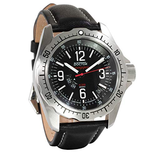 Vostok America Komandirskie K-39 Automatic & Manual Black Dial Mens Watch
