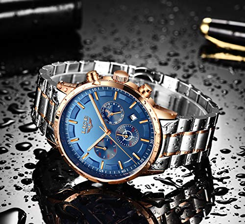 "LIGE Mens Watches Steel Waterproof Full Steel Watch Business Silver Black   ?Japanese quartz movement: stylish mens watch movement provides precise and accurate time,Scratch Proof hardlex crystal screen make it super durable ?The classic business luxury fashion design men's slim watch, clear lines draw the outline of a unique texture.This simple gent's wrist watch will be greatly suitable for any occasions. ?stylish gold milanese mesh stainless steel strap and have a huge classic round dial,Don't worry about it that will pull your hairs. With the watch link tool, you can adjust the watch band length by yourself,It is very convenient. ?Scratch-resistant mineral crystal lens and 30m(3ATM/98FT) waterproof is suitable for everyday used. Splash/rain resistant . Not suitable for sauna, bathing, diving. ?After-sales service: The watch has 30 days unconditional refund, 2 years quality service. If you have any questions, please contact us immediately, we will provide you with the best service.   The watch is designed for men,fashion,business,casual and luxury,perfect for any occasions. Made of high quality stainless steel case,adjustable strap,scratch proof mineral crystal screen,auto date and week display.</p> <p>Product Watch Features: The mens watches with auto date Watch functions Fashion watch with Luminous Time Mark and Minute/Hour pointers,help you check time easily in the dark 3ATM/30M Water Resistant support daily use, hand wash,rainy day,Not suitable for diving,swimming This watch will come with a luxury box.A great gift for family or friends</p> <p>Material: Movement Type: Quartz Watch Water Resistance: 3ATM Dial Window Material: Scratch Proof Mineral Glass Watch Band Material: Stainless Steel Watch Case Material: Alloy</p> <p>Specification: Watch Diameter: 40mm (1.57"") Watch Thickness: 10mm (0.39"") Watch Band Width: 22mm (0.86"") Watch Weight: 85g Package Included: Mens Watch x 1 Instructions x 1 Warranty Card x 1 Soft Cloth x 1</p>"