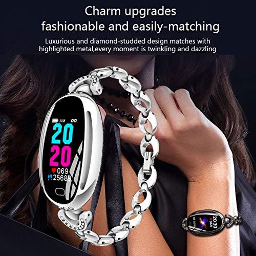 Smart Watches for Women Luxury Diamond Bracelet Heart Rate Pedometer
