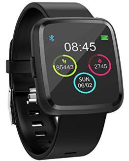 Smart Watch Heart Rate Monitor Pedometer Calorie Counter Sport Modes Sleep Monitor Blood Pressure Big Touch Screen for Men Women