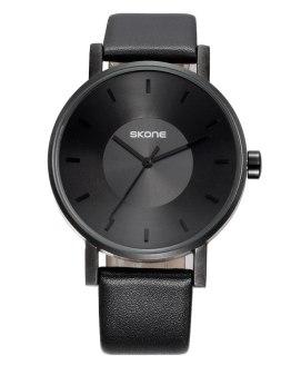 Casual Sport Clock Classical Black Quartz SKONE