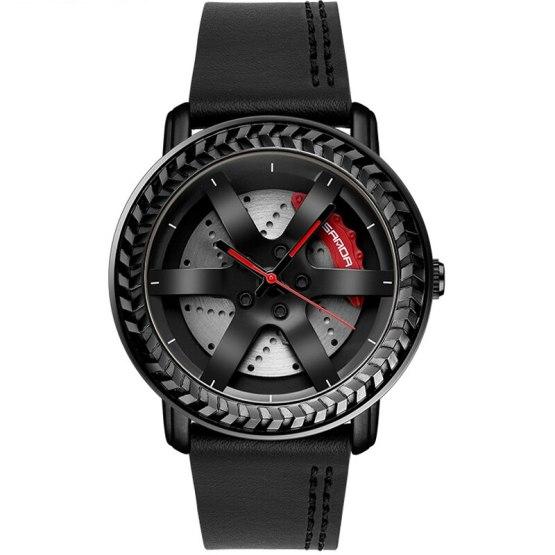 Wheel Rim Hub Watch for Men Sports Watches Waterproof