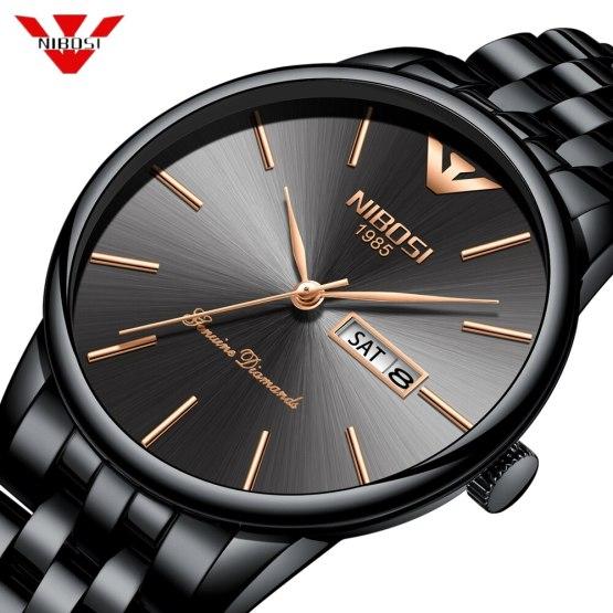 NIBOSI Simple Style Fashion Men Quartz Watch Luxury