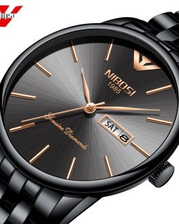 NIBOSI Simple Style Fashion Men Quartz Watch Luxury
