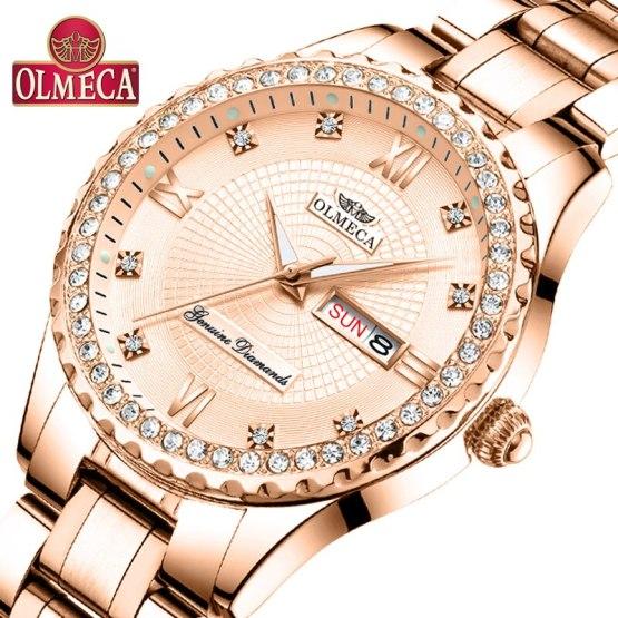 OLMECA Women Wrist Watch Fashion Auto Date Luxury