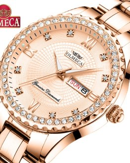 OLMECA Women Wrist Watch Fashion Auto Date Luxury