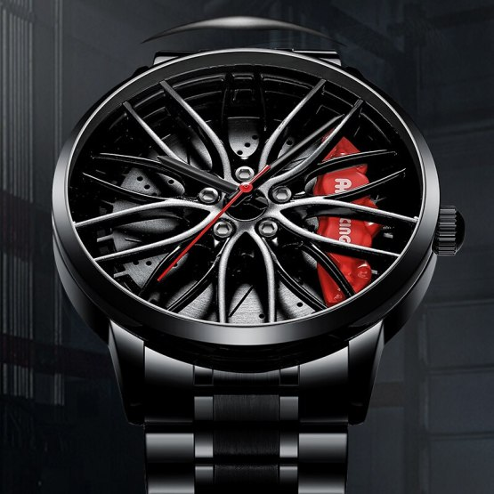 Car Wheel Rim Hub Man Watch Custom Design