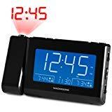 Magnasonic Alarm Clock Radio with USB Charging for Smartphones