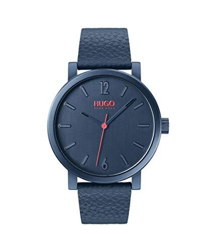 Hugo Boss Blue Quartz Watch with Leather Strap