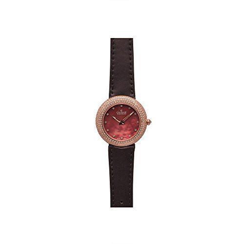 Brown Calfskin Synthetic Sapphire Women's Watch