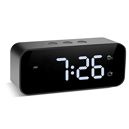 Modern Digital Alarm Clock Snooze Small Led Desk