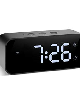 Modern Digital Alarm Clock Snooze Small Led Desk