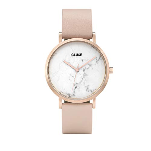 CLUSE La Roche Rose Gold White Marble Women's Watch