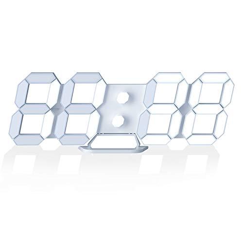 "LED Digital Desk Clock, Table Wall Clocks 9.7"" Brightness"
