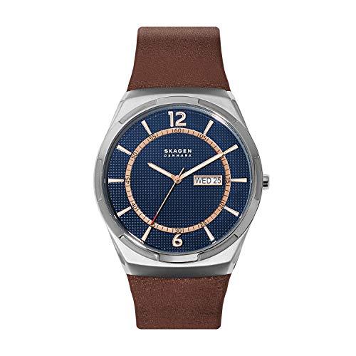 Skagen Brown Leather Watch Analog