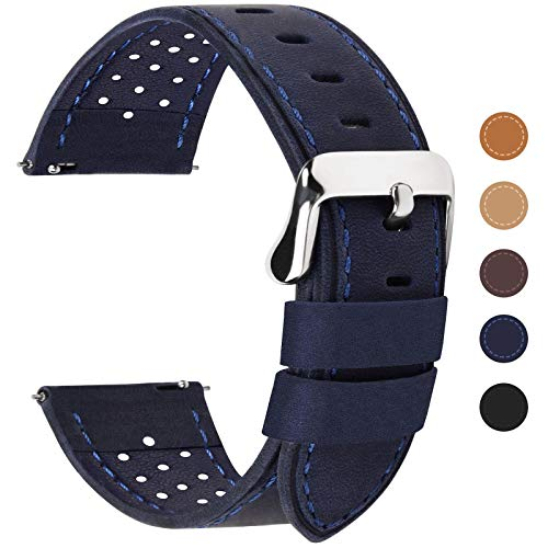 Dark Blue Watch Band, Quick Release Breeze Leather
