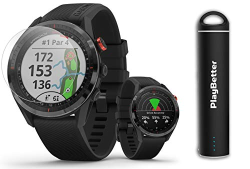 Garmin Approach S62 (Black) Golf GPS Watch PlayBetter Bundle