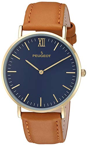 Peugeot Men's Ultra Slim Watch, 14Kt Gold Plated