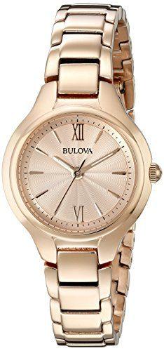 Rose Gold Watch Bulova Analog