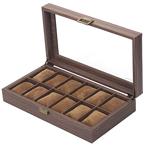 Box Organizer Watch Case with Glass Top