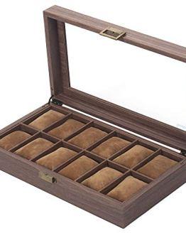 Box Organizer Watch Case with Glass Top