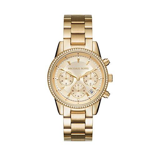 Michael Kors Women's Ritz Gold-Tone Watch
