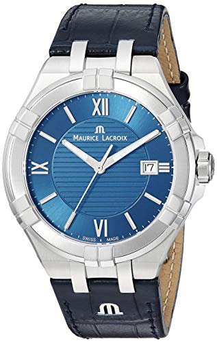 Maurice Lacroix Blue Watch with Leather Strap