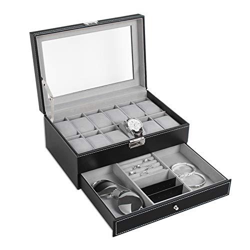 Leather Watch Case Organizer Jewelry Display