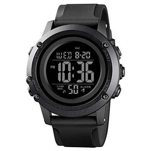Men's Digital Sports Watch Large Face Waterproof