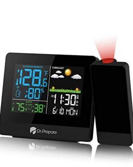 Projection Alarm Clock Projector on Ceiling with Indoor/Outdoor Temperature Display