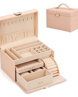 FEISCON Jewelry Box Organizer Watch Case Large