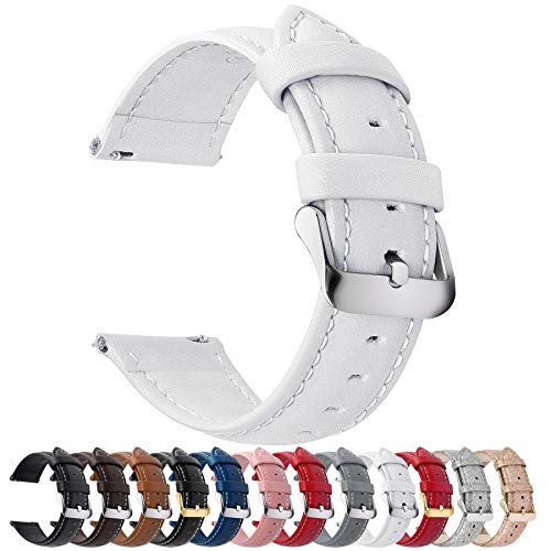 12 Colors for Quick Release Leather Watch Band